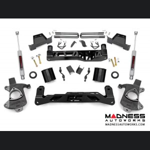 "Chevy Silverado 1500 2WD Suspension Lift Kit w/ N3 Shocks & Lifted Struts - 7"" Lift - Aluminum Stamped Steel"